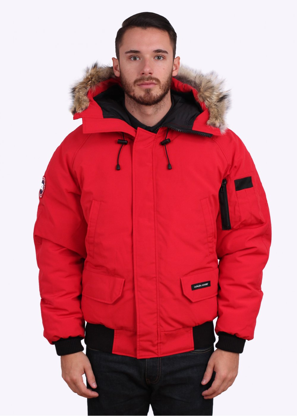 canada goose women red chilliwack bomber