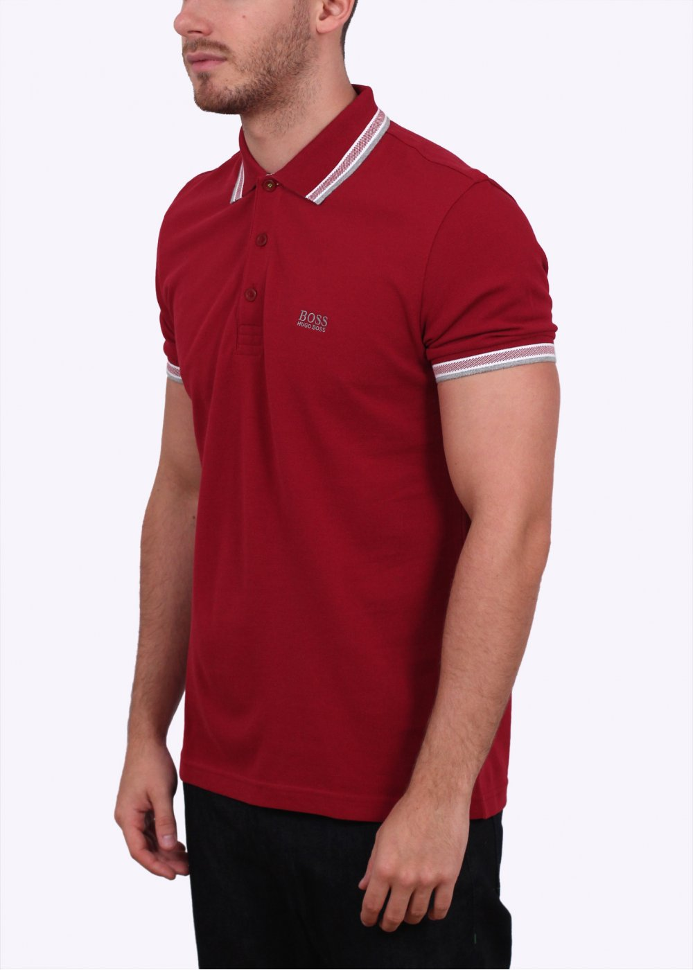 Hugo boss green paddy polo dark red for Hugo boss green polo shirt sale