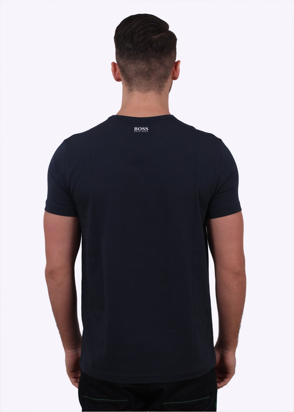 hugo boss green tee us navy hugo boss green from triads uk. Black Bedroom Furniture Sets. Home Design Ideas