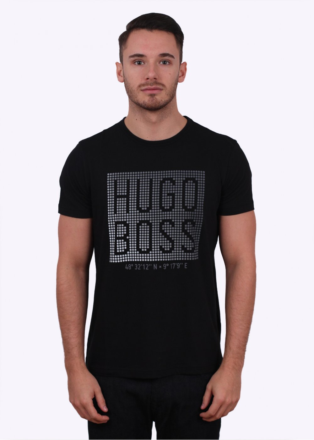hugo boss green teeos tee black. Black Bedroom Furniture Sets. Home Design Ideas