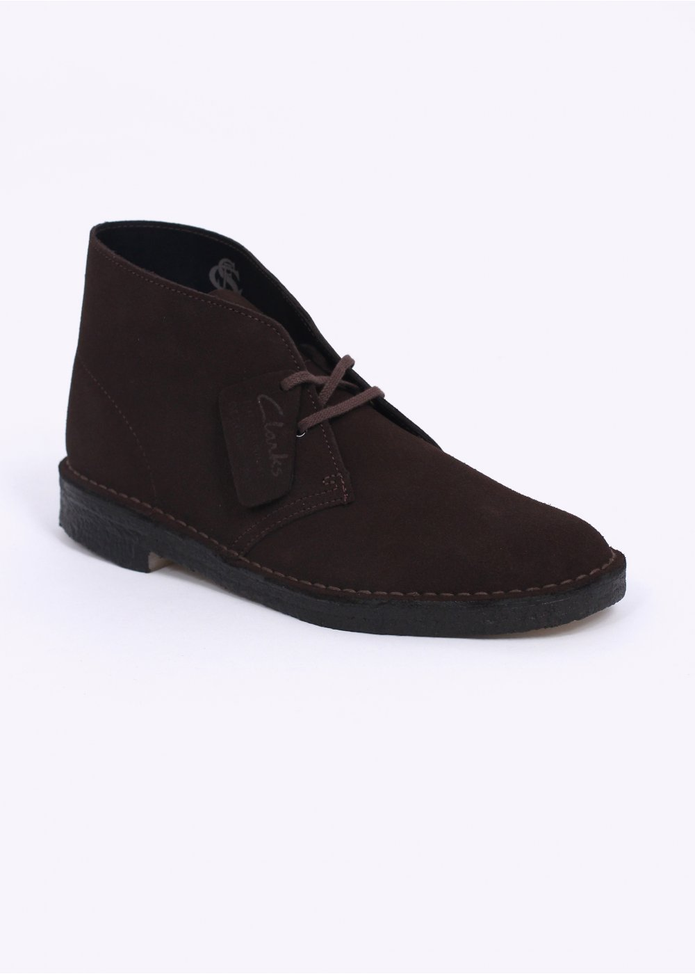 clarks originals desert boot suede brown