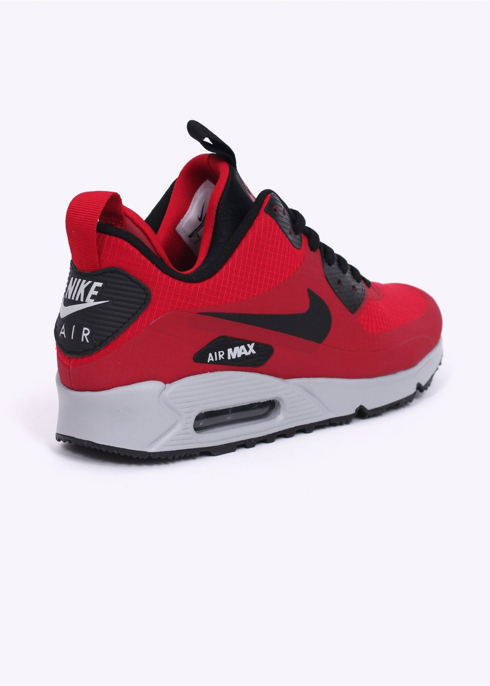 nike air max 90 mid winter sneakerboots gym red black. Black Bedroom Furniture Sets. Home Design Ideas