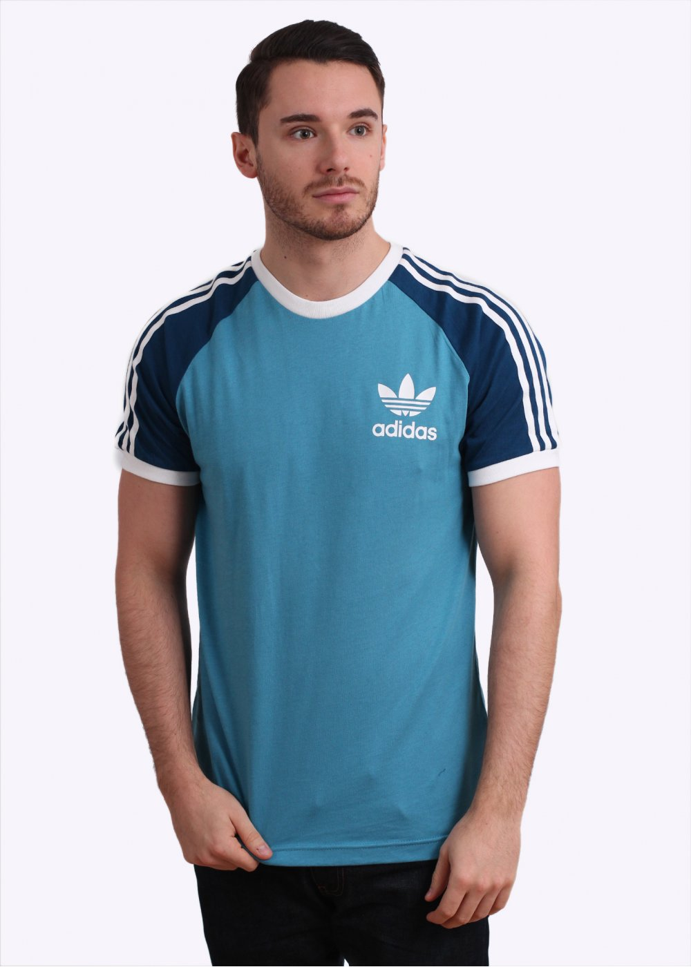 Adidas originals california tee light blue Light blue t shirt mens