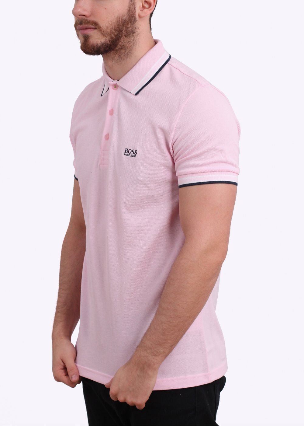 Hugo boss green paddy polo shirt bright pink hugo boss for Hugo boss green polo shirt sale