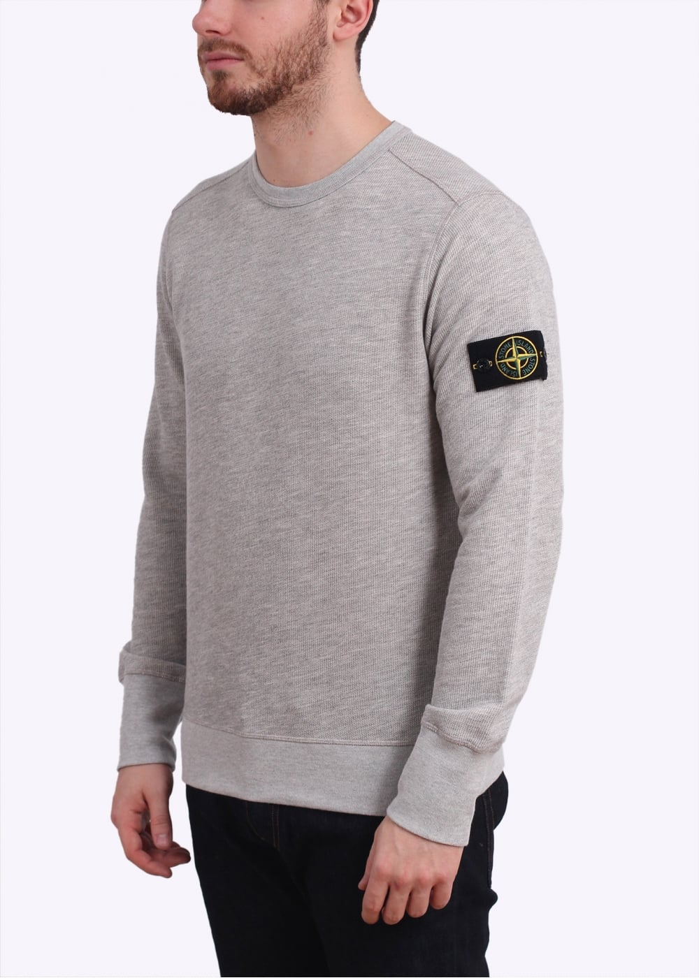 stone island crew sweatshirt pearl grey. Black Bedroom Furniture Sets. Home Design Ideas