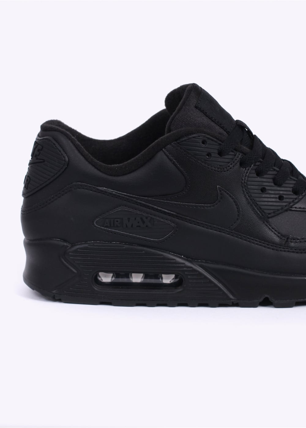 nike air max 90 trainers leather black. Black Bedroom Furniture Sets. Home Design Ideas
