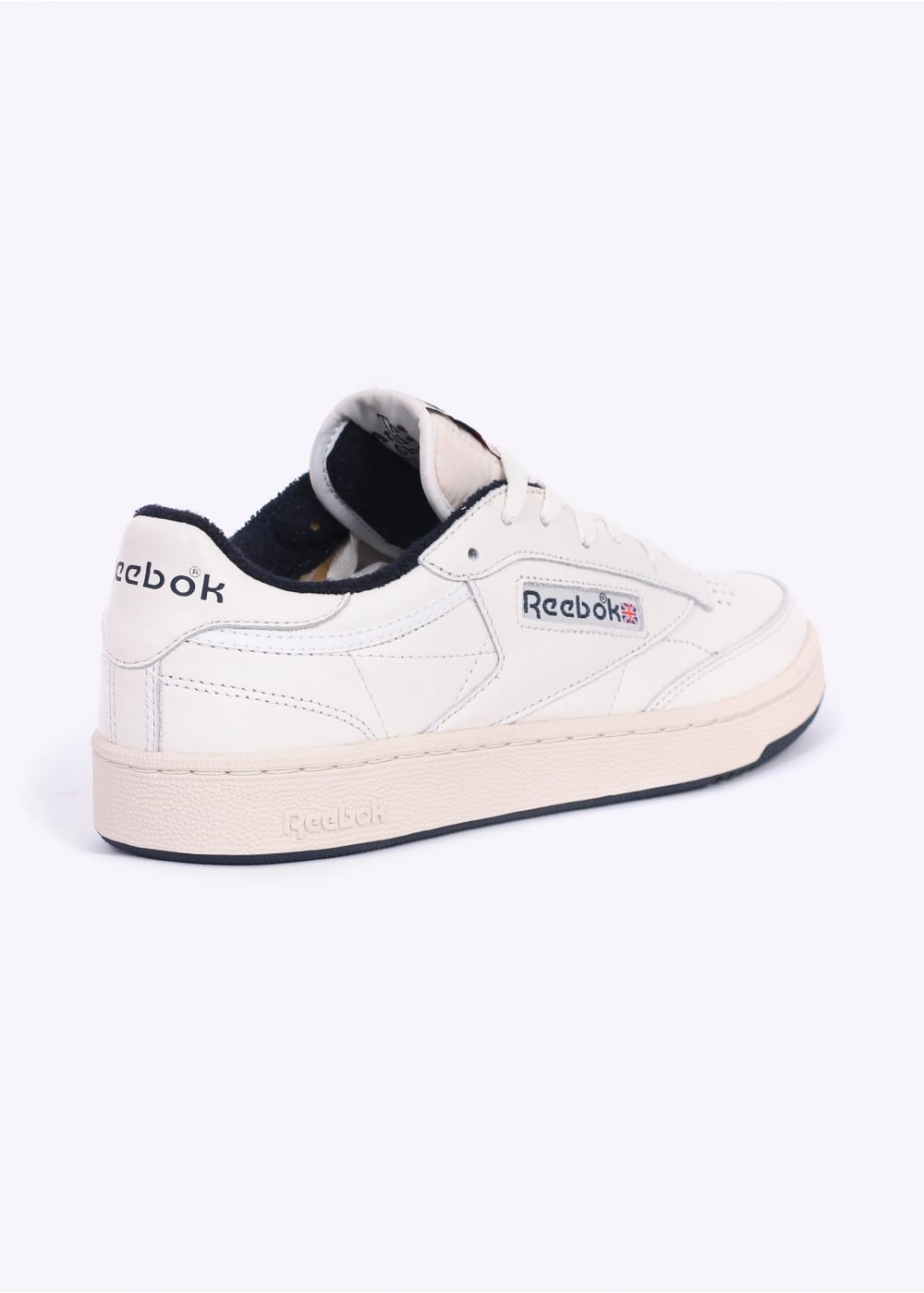 reebok club c 85 vintage trainers chalk navy. Black Bedroom Furniture Sets. Home Design Ideas