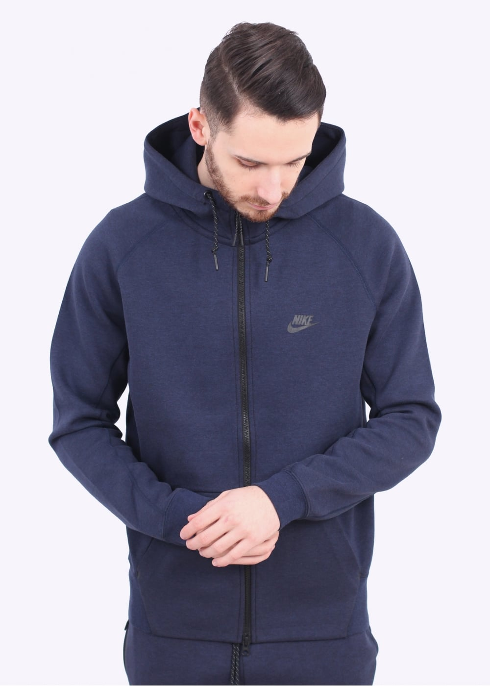 nike tech fleece aw77 hoodie obsidian. Black Bedroom Furniture Sets. Home Design Ideas