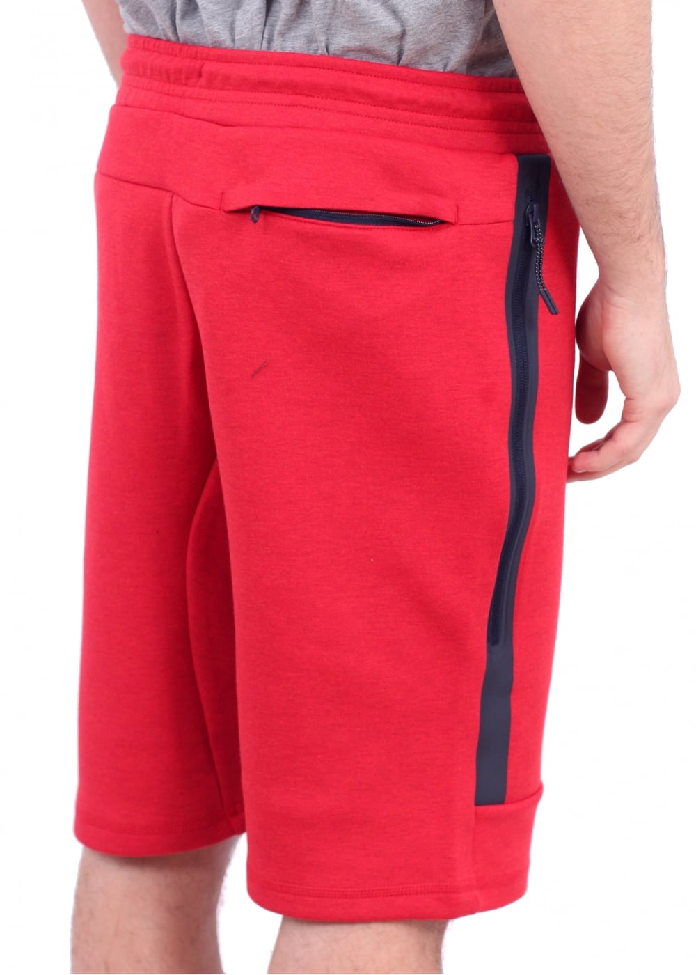 nike apparel tech fleece shorts university red nike. Black Bedroom Furniture Sets. Home Design Ideas