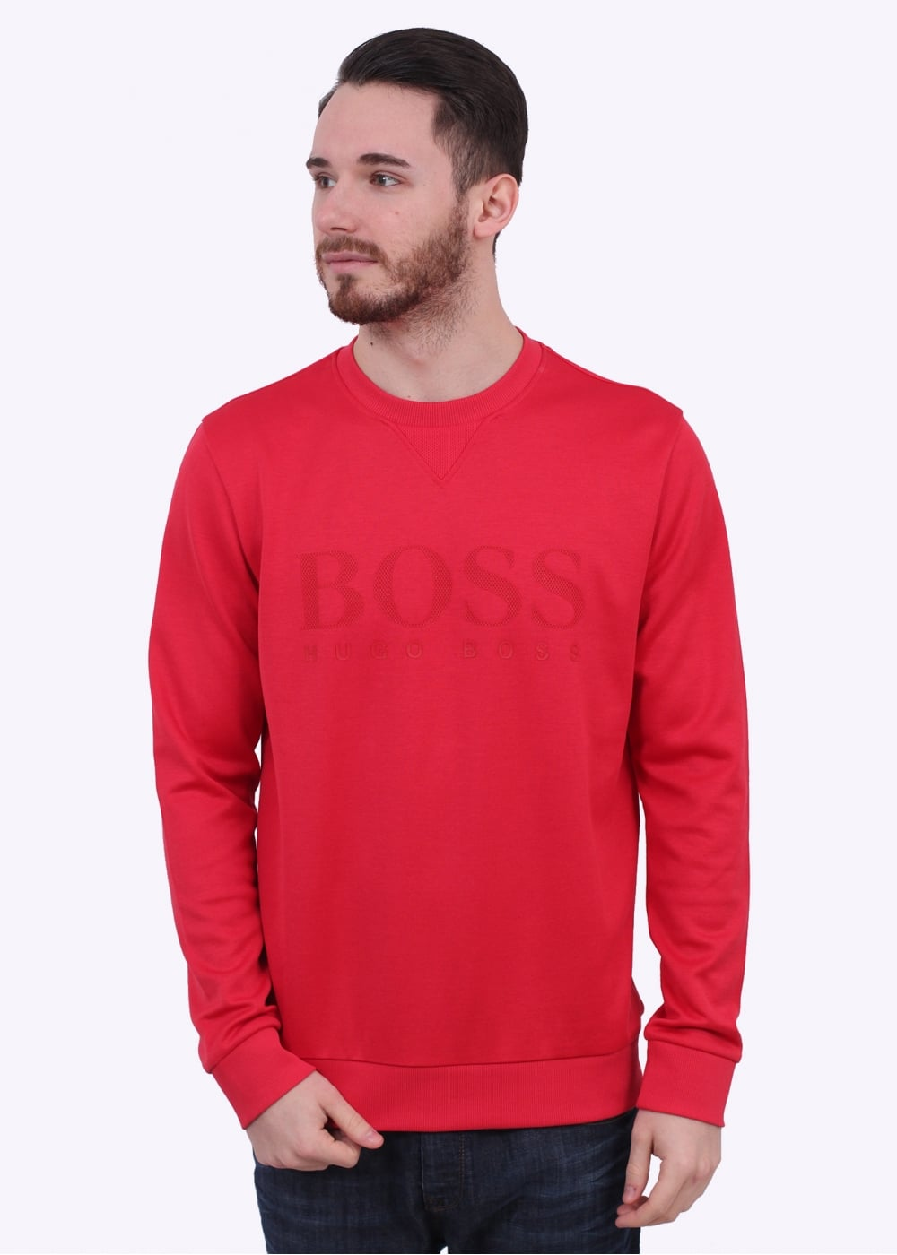hugo boss green hugo boss green salbo sweater open red. Black Bedroom Furniture Sets. Home Design Ideas