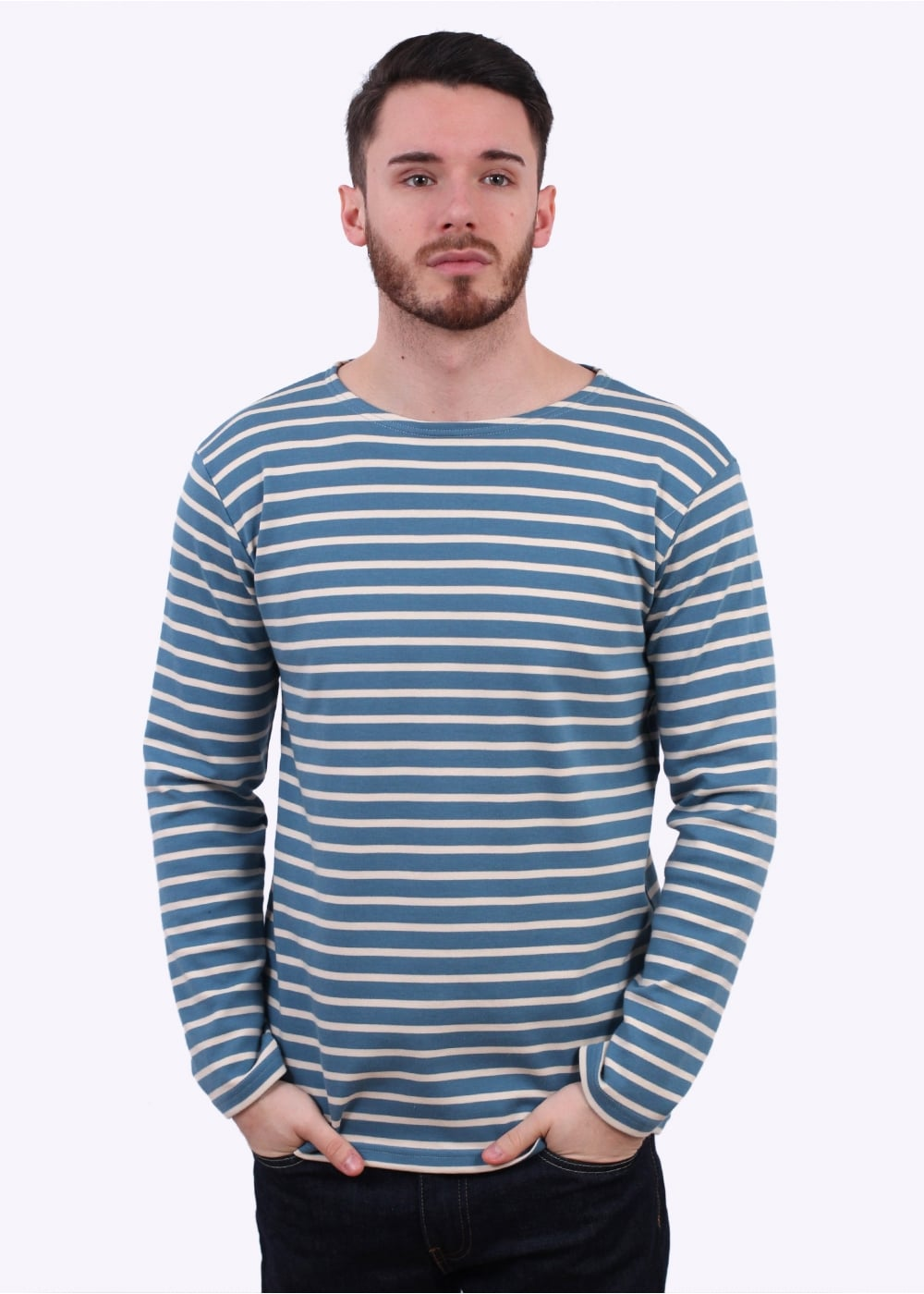 breton t shirt blue cream by armor lux. Black Bedroom Furniture Sets. Home Design Ideas