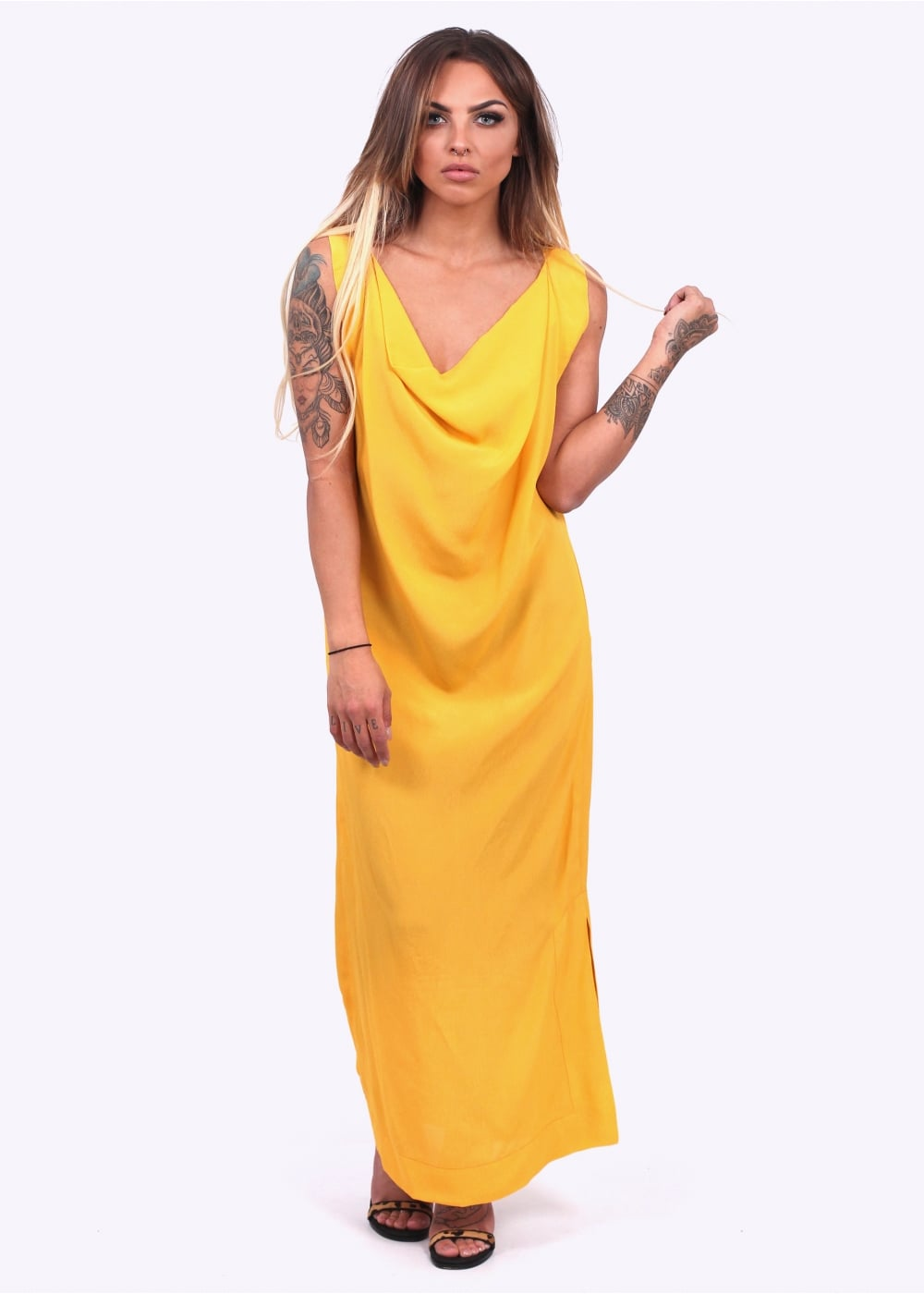 Vivienne Westwood Womens Ridge Dress Yellow Triads