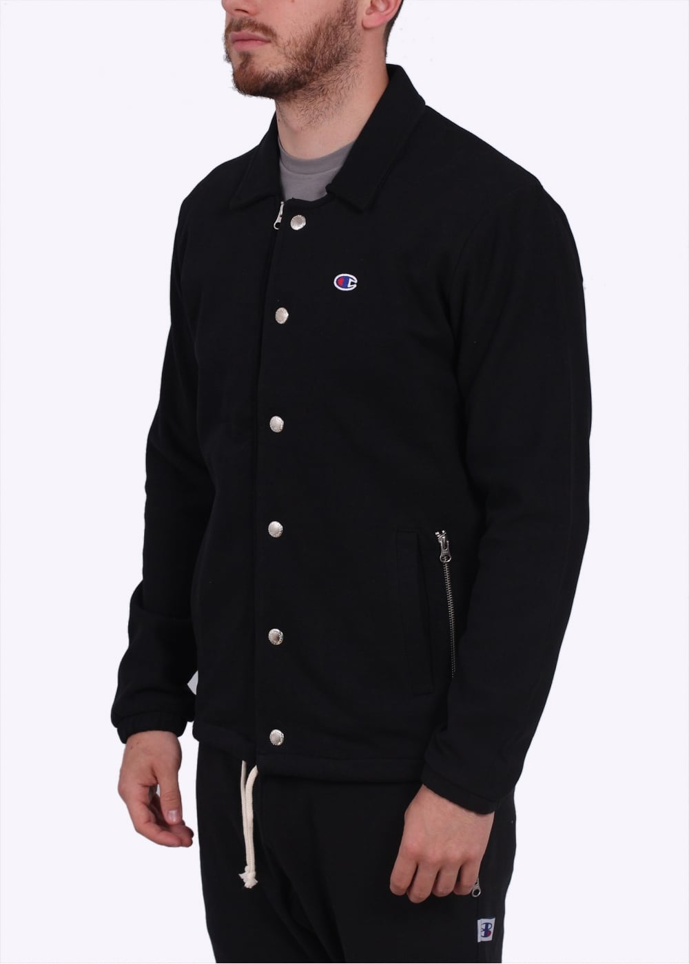 Champion x beams coach jacket black champion from for Coach jacket