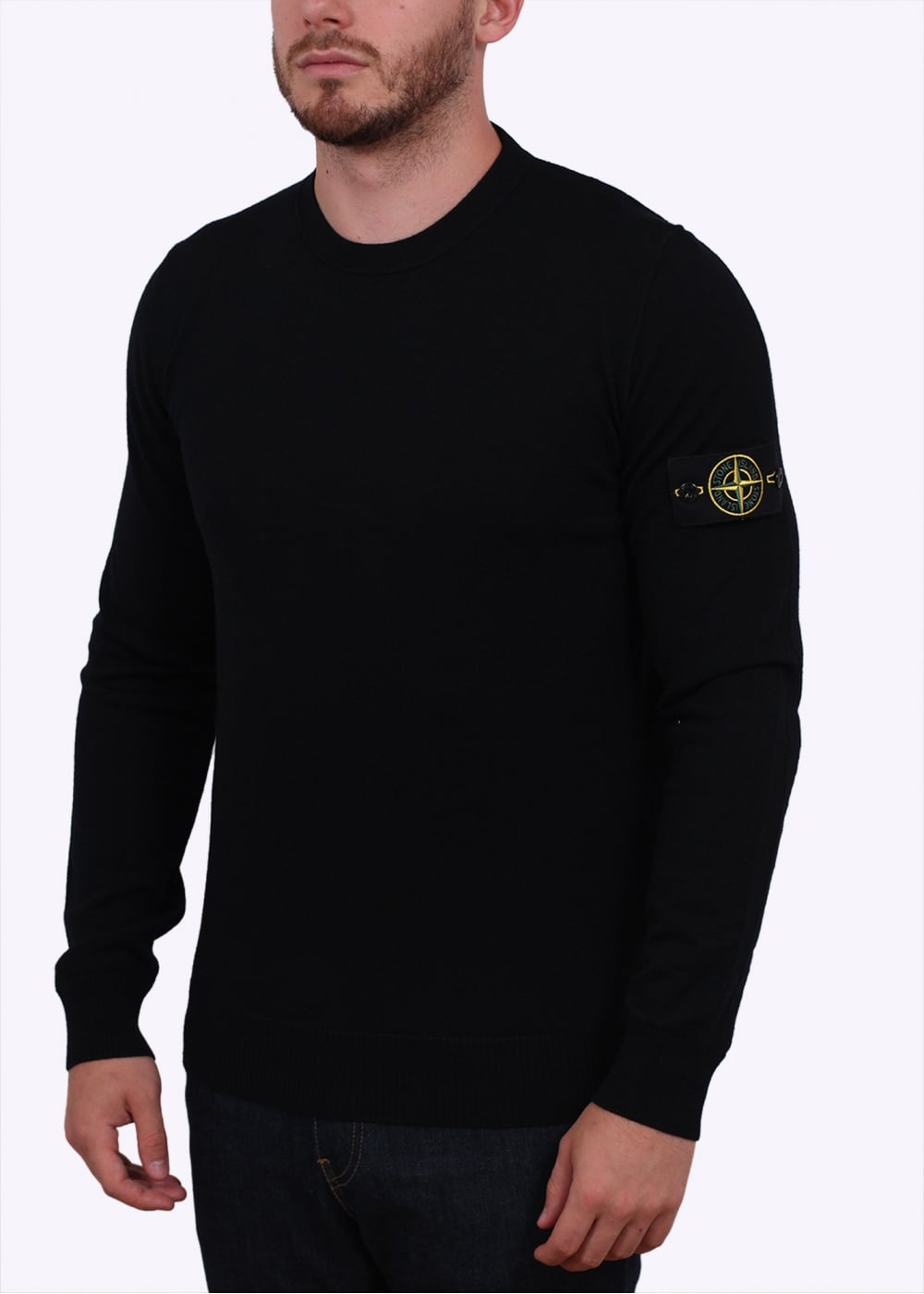 stone island thin sweater black stone island from triads uk. Black Bedroom Furniture Sets. Home Design Ideas