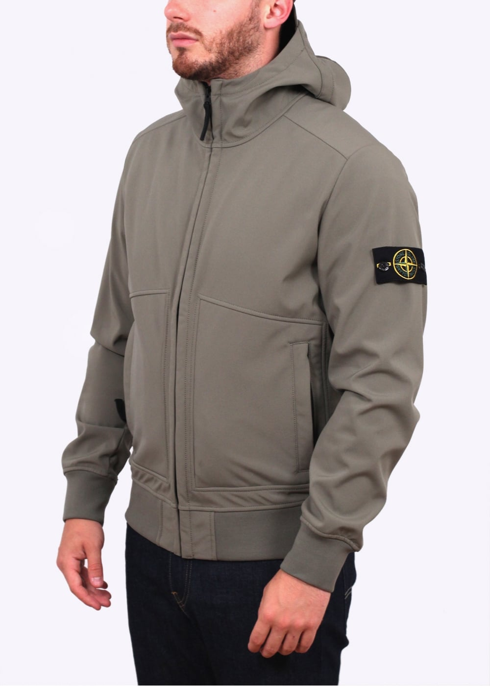 stone island soft shell r jacket sage stone island from triads uk. Black Bedroom Furniture Sets. Home Design Ideas