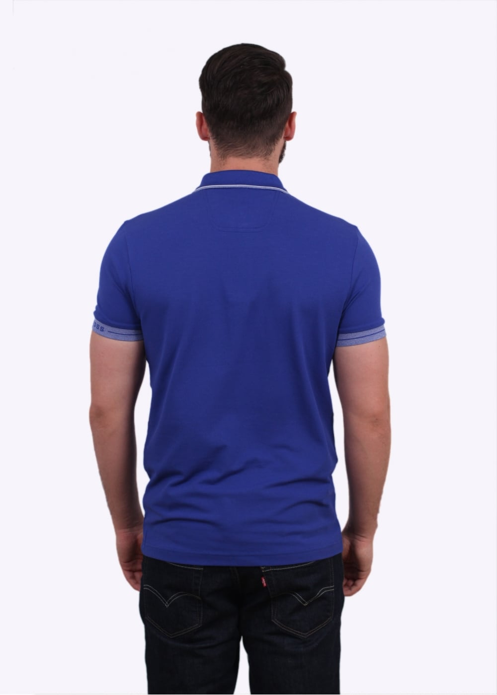Hugo boss green paule polo shirt open blue hugo boss for Hugo boss green polo shirt sale
