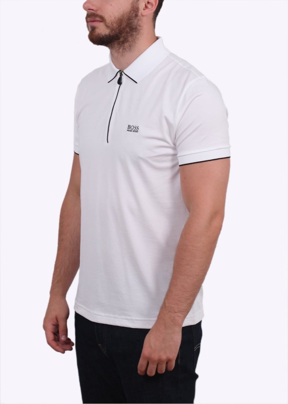Hugo boss green philix polo shirt white hugo boss for Hugo boss green polo shirt sale