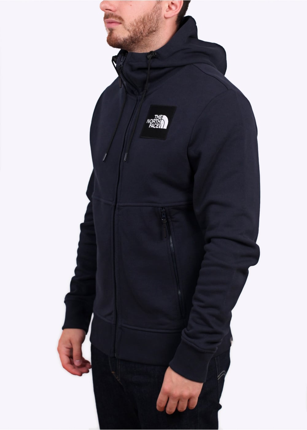 the north face fine zip hoodie urban navy the north