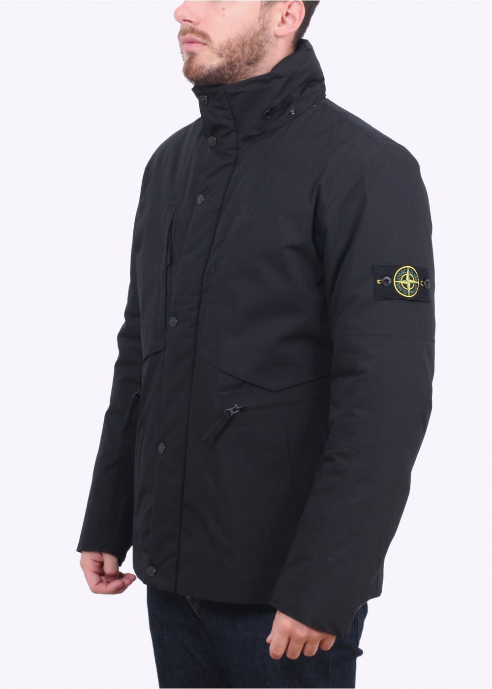 stone island water repellent jacket black stone island from triads uk. Black Bedroom Furniture Sets. Home Design Ideas
