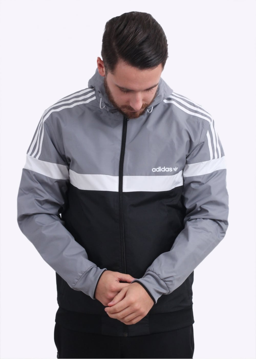 Adidas Originals Apparel Reversible Windbreaker Grey