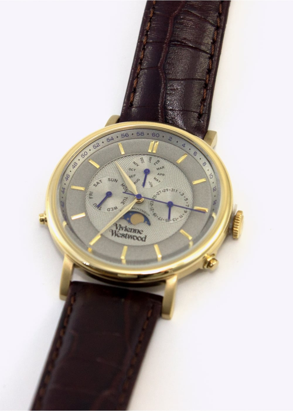 vivienne westwood mens watches portland brown gold