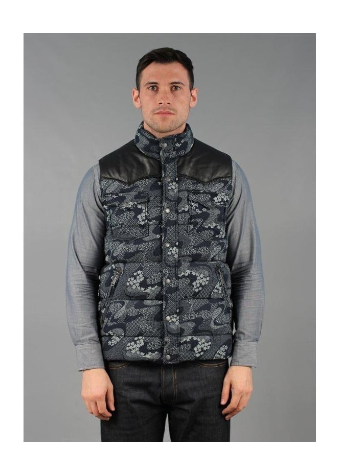 Penfield Stapleton Vest Gilet Navy Leaf