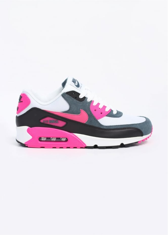 hot sale online 22fcb 703ed Air Max 90 Essential Trainers - White   Pink Foil   Black