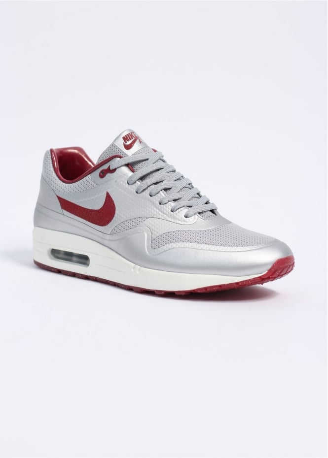 the latest 690f8 18a38 Air Max 1 Hyperfuse HYP QS Trainers - Metallic Silver   Deep Red