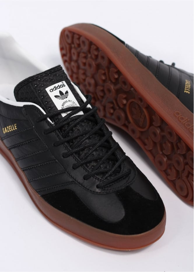 adidas Originals Footwear Gazelle Indoor Leather Trainers Black Black