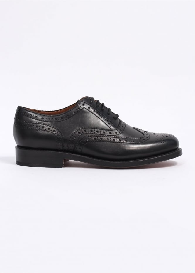 Grenson Stanley Leather Brogue Shoes - Black