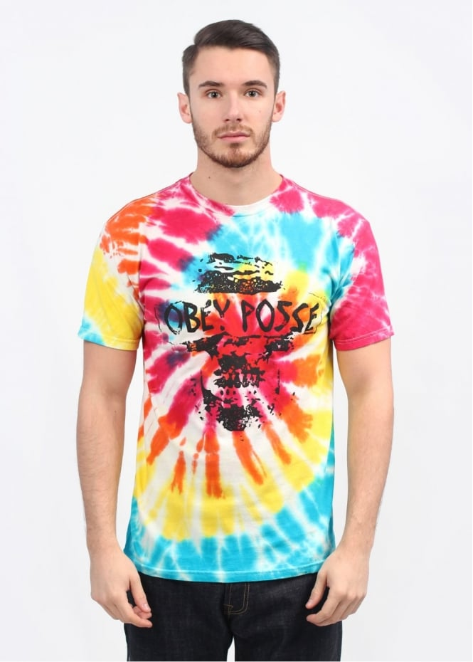 Obey In Nomine Partri T-Shirt - Rainbow