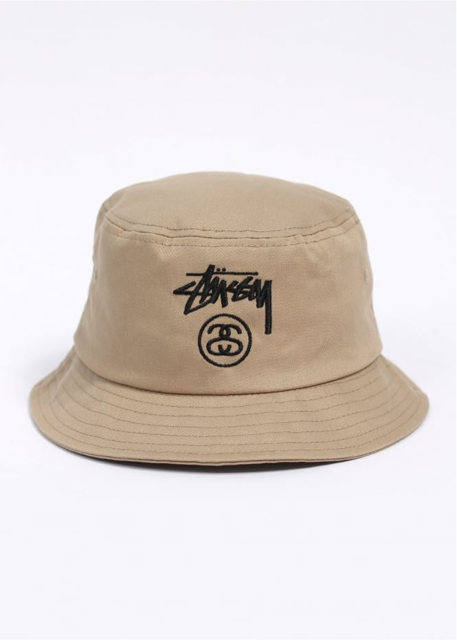dc6fe442f Stussy Stock Lock Bucket Hat - Khaki