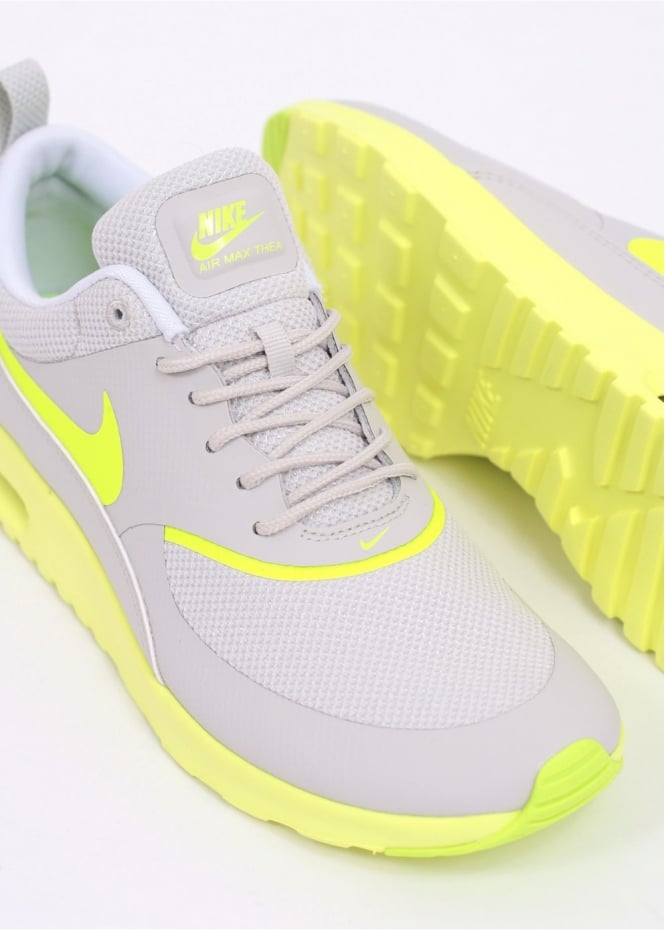 Nike Air Max Thea Trainers - Grey / Yellow