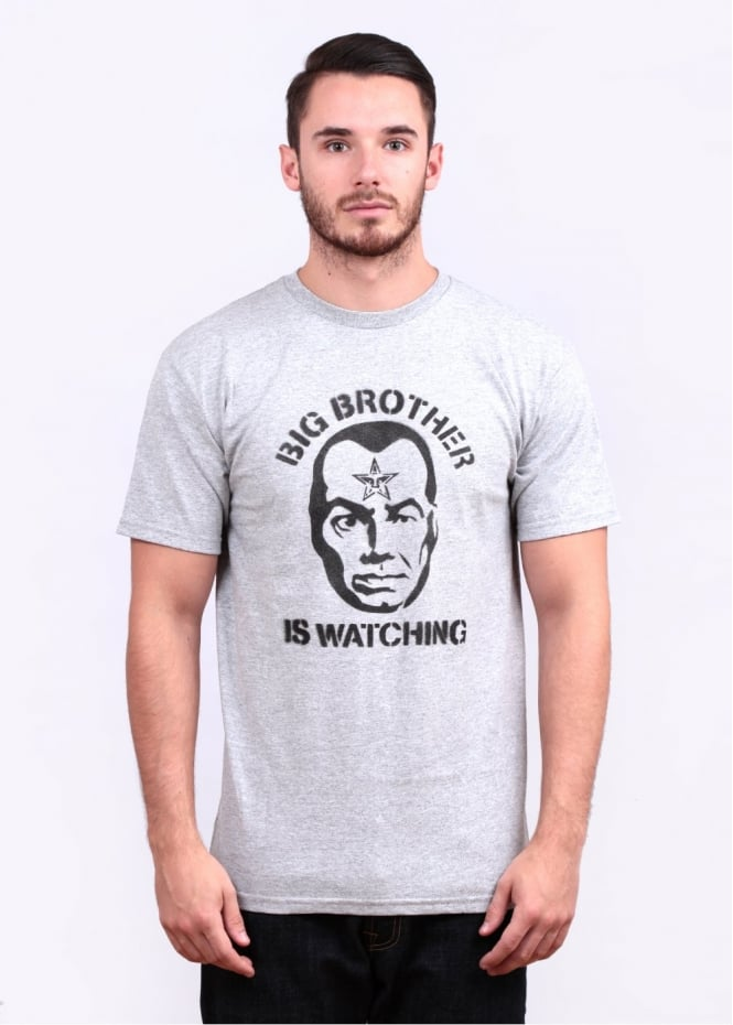 Obey Big Brother Watching Tee - Heather Grey