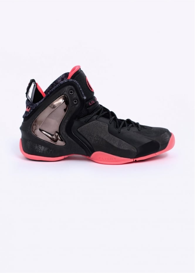 Nike Footwear Quickstrike Lil Penny Posite PRM QS 'NOLA Gumbo League Trainers - Black / Atomic Red