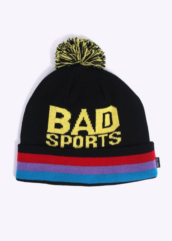 Undefeated Bad Sports Pom Beanie - Black