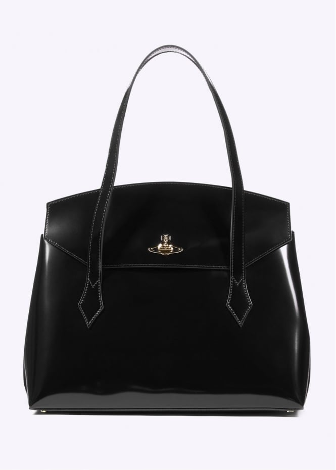 Vivienne Westwood Accessories Leather Monaco Bag - Black