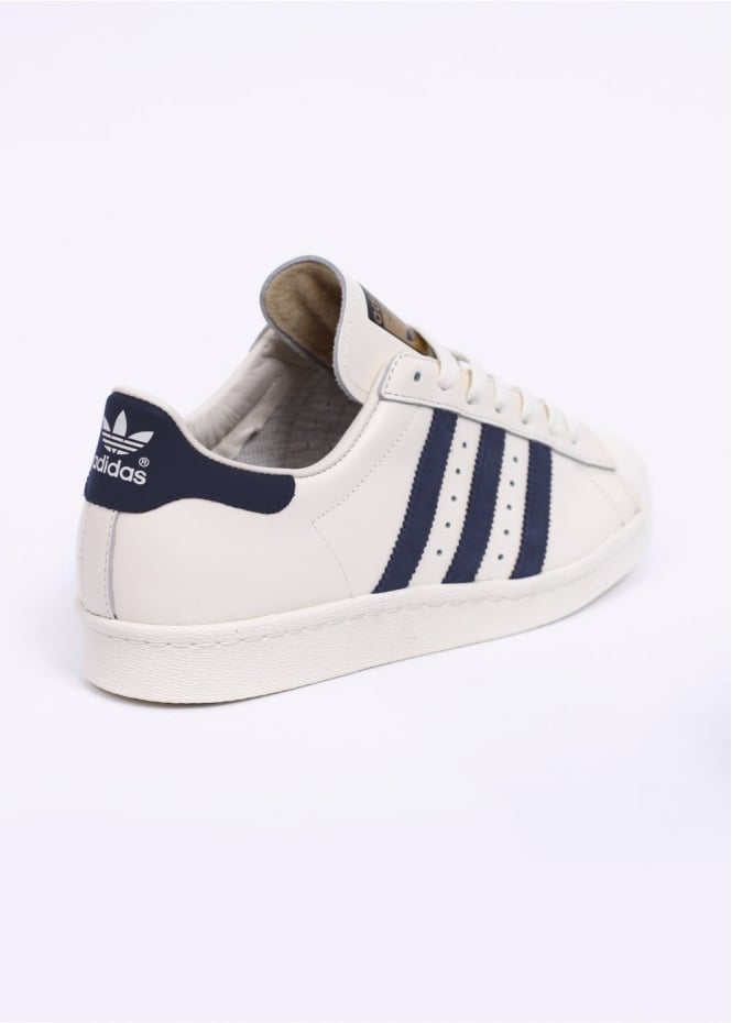 check out 34abe d9c80 adidas Originals Footwear Superstar 80s Vintage Deluxe Trainers - Vintage  White / Collegiate Navy / Off White