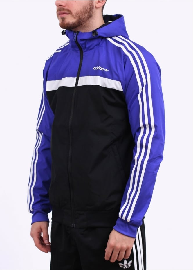 adidas Originals Apparel Marathon 83 Jacket Purple Black