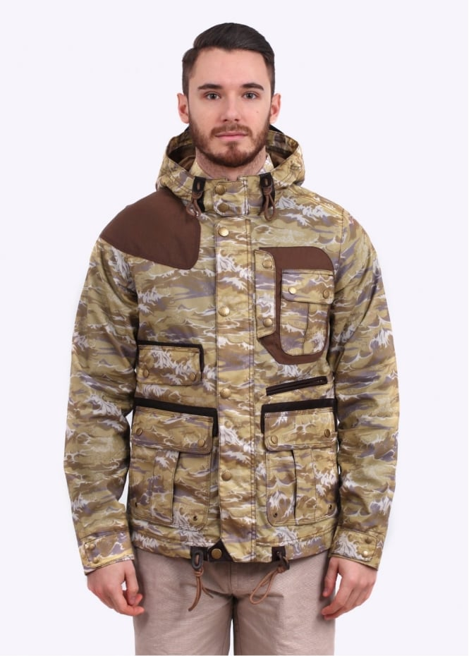 Barbour x White Mountaineering Wave Mountain Parka - Stone Wave Print
