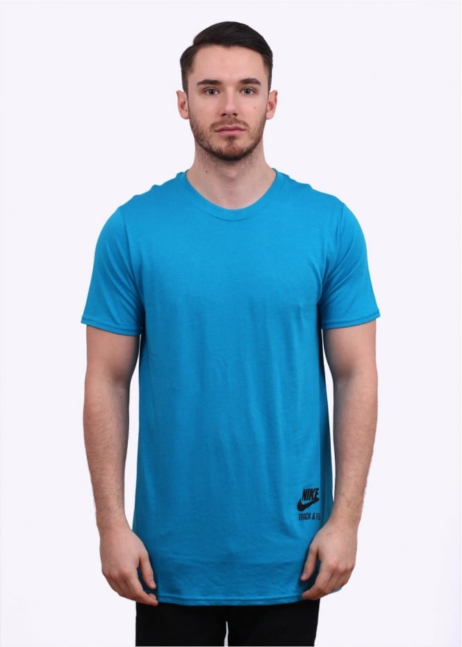 Nike Apparel NTF Long Body Tee - Light Blue