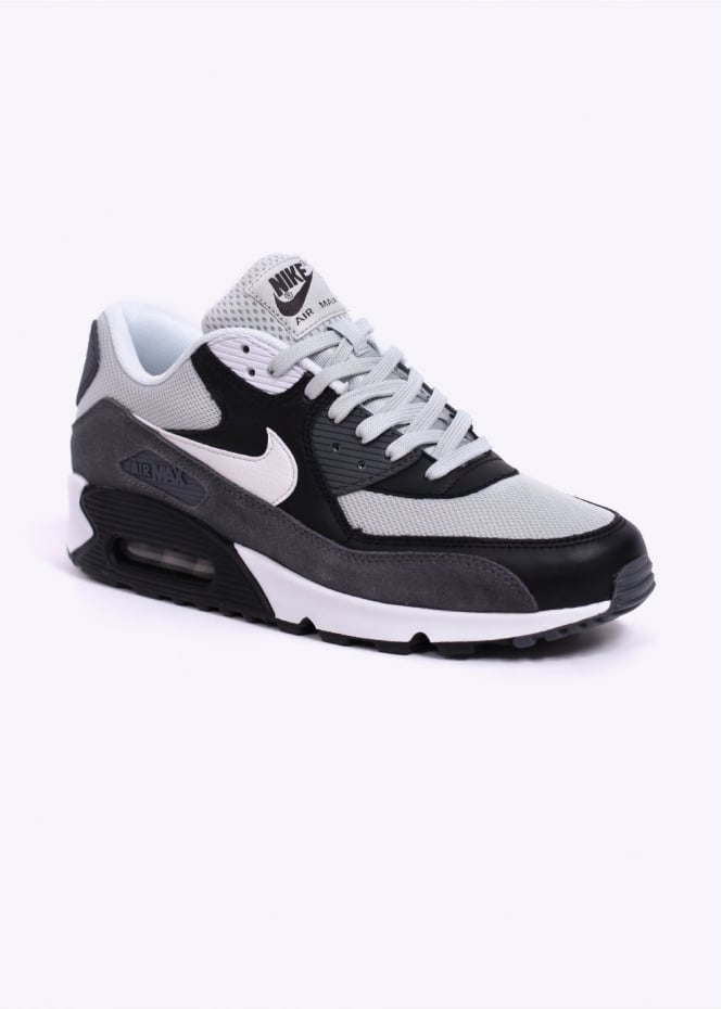 official photos 2a90b 7ffa0 Air Max 90 Essential Trainers - Grey Mist   Black   Dark Grey