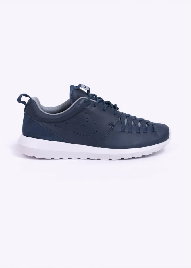 newest 265ed 4b2ae Roshe Run NM Woven Leather Trainers - New Slate   Dark Obsidian   Dove Grey