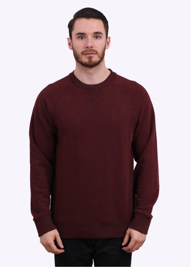 Obey Hyperion Crew Sweater - Dark Red