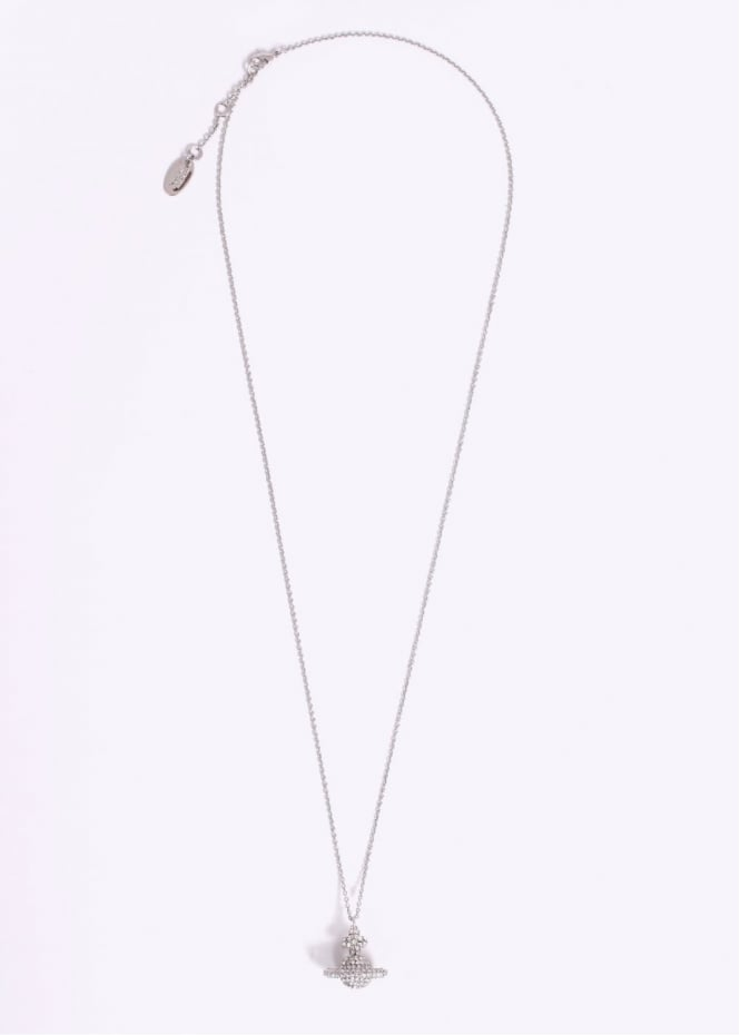 Vivienne Westwood Jewellery Grace Small Pendant - Rhodium / Crystal
