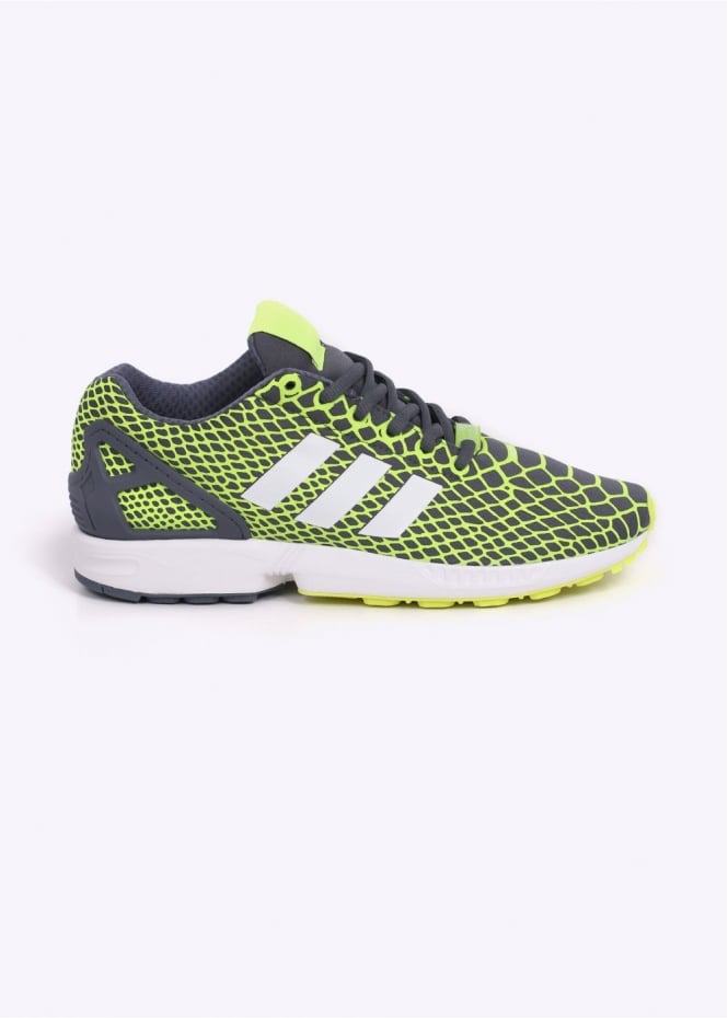 Adidas Originals Footwear ZX Flux Techfit Trainers - Yellow / Onix