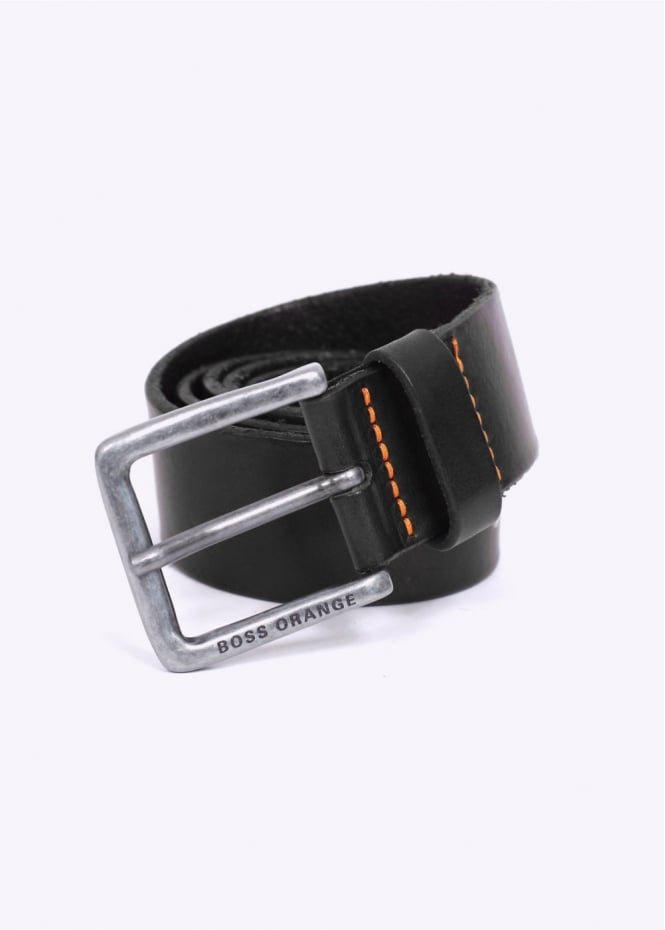 Hugo Boss Accessories / Boss Orange - Jeek Leather Belt - Black