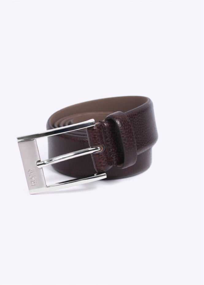Hugo Boss Accessories / Hugo - C-Ellot Leather Belt - Dark Brown