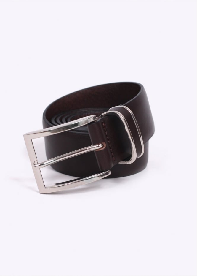 Hugo Boss / Boss Black - Froppin Leather Belt - Dark Brown
