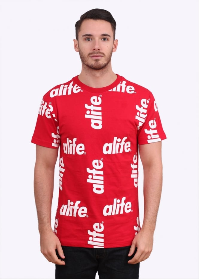 Alife Core Allover Tee - Ribbon Red